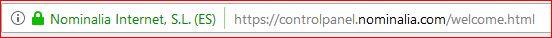 URL segura Nominalia