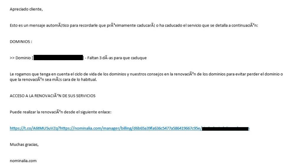 Phishing: suplantación de identidad