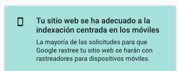 Google Search Console te indica si tu web es apta para navegación desde el móvil