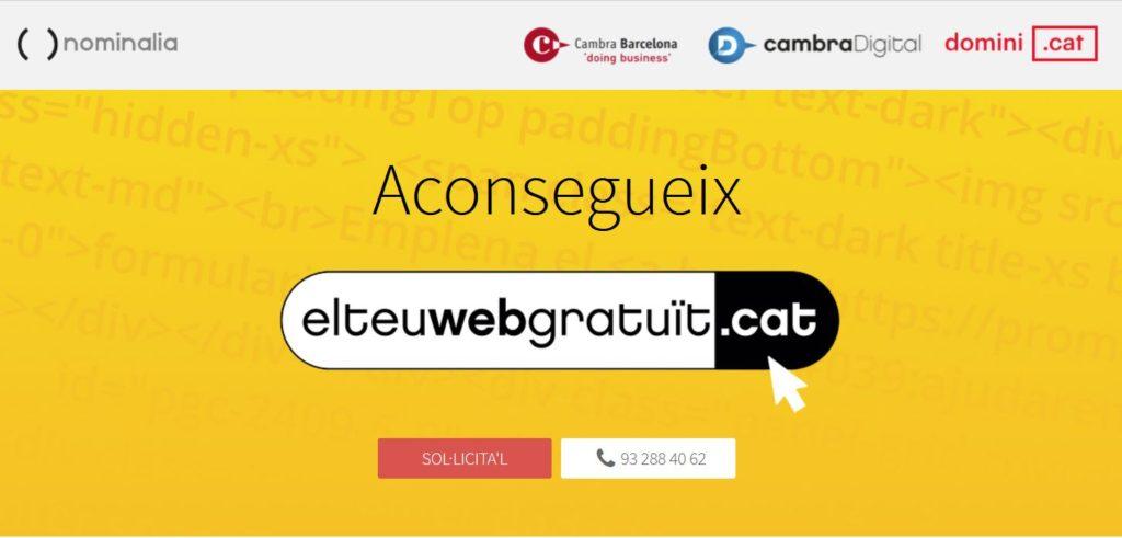 elteuwebgratuit.cat és una iniciativa de Cambra de Barcelona, Fundació .cat i Nominalia