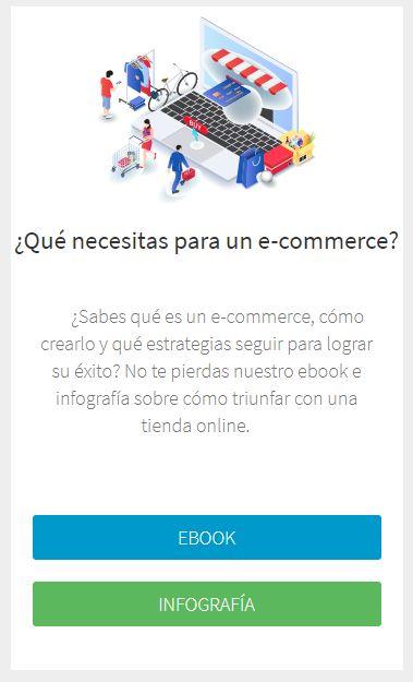Infografía y ebook sobre cómo crear un e-commerce